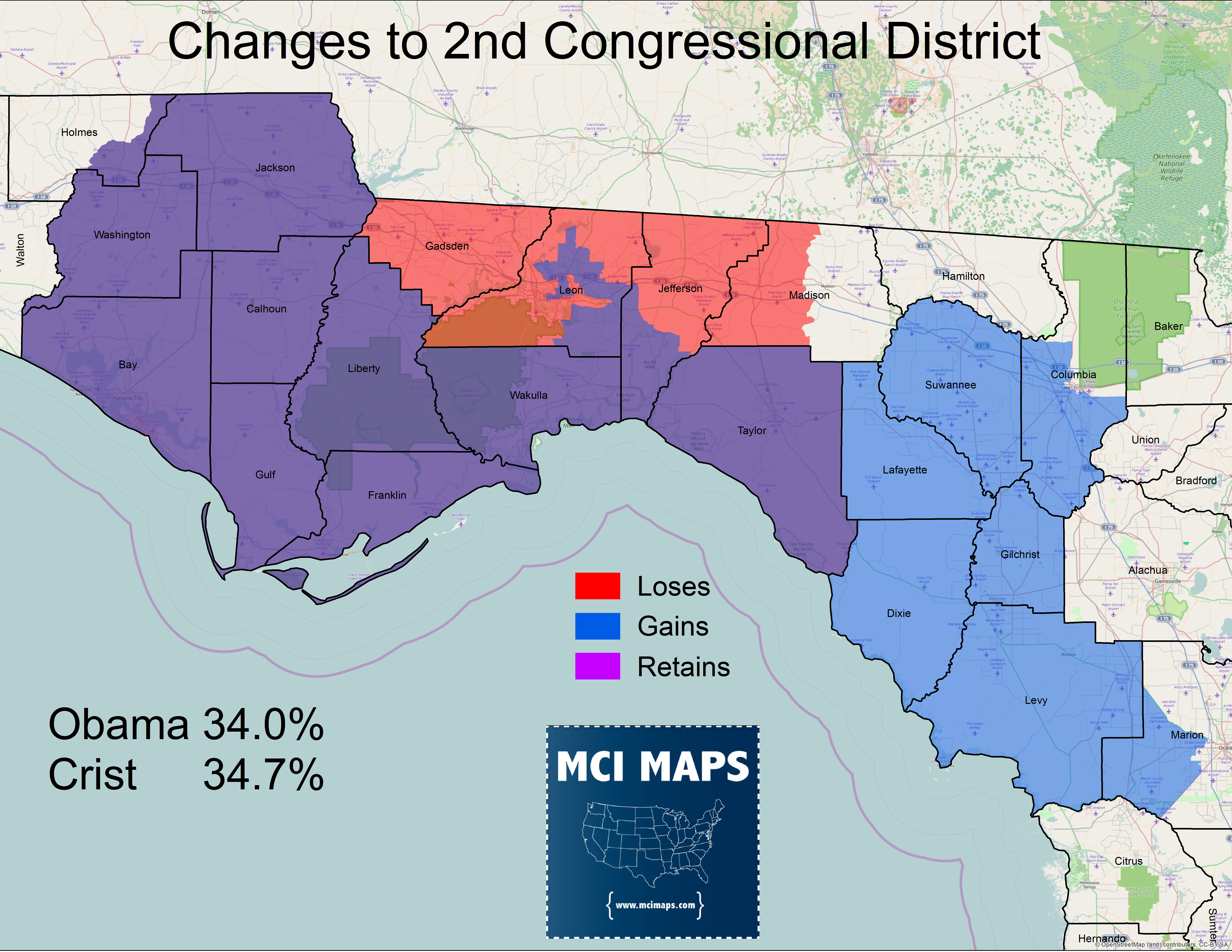 The Complete Breakdown Of Floridas Proposed Congressional - Florida county map with population