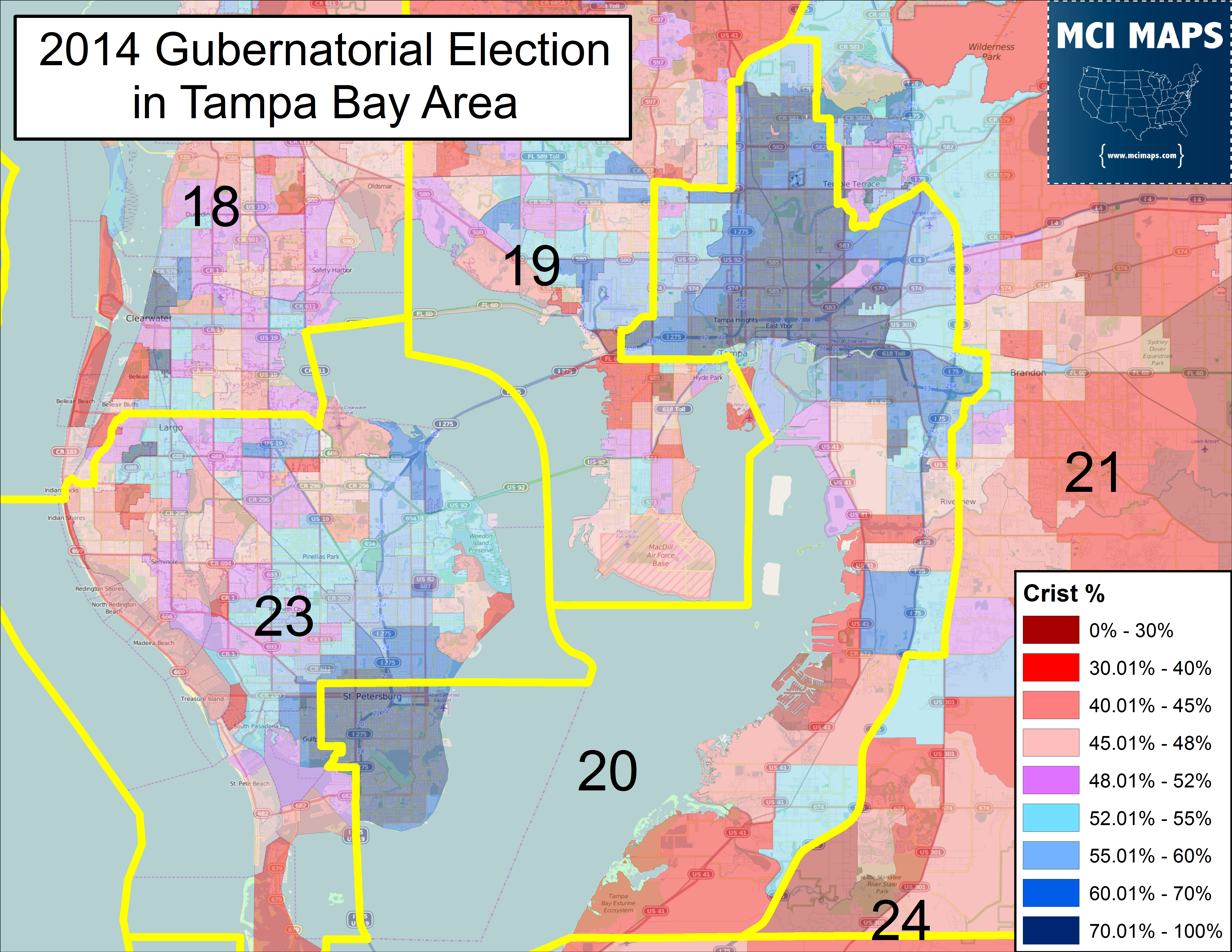 Updated Data Shows State Senate Districts Shouldn\'t Cross the Tampa ...