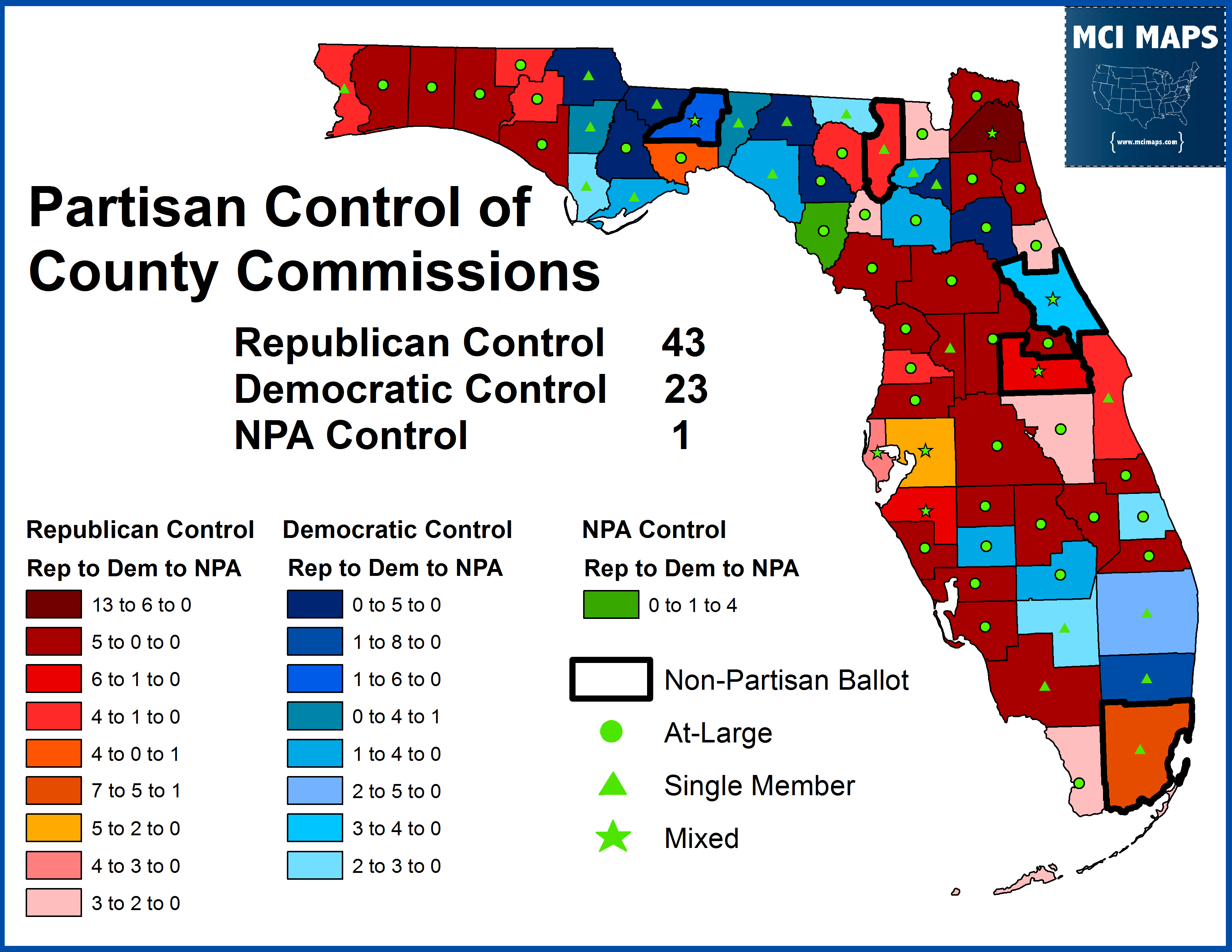 How Florida Democrats Fared In 2014u2032s Local Elections U2013 MCI Maps