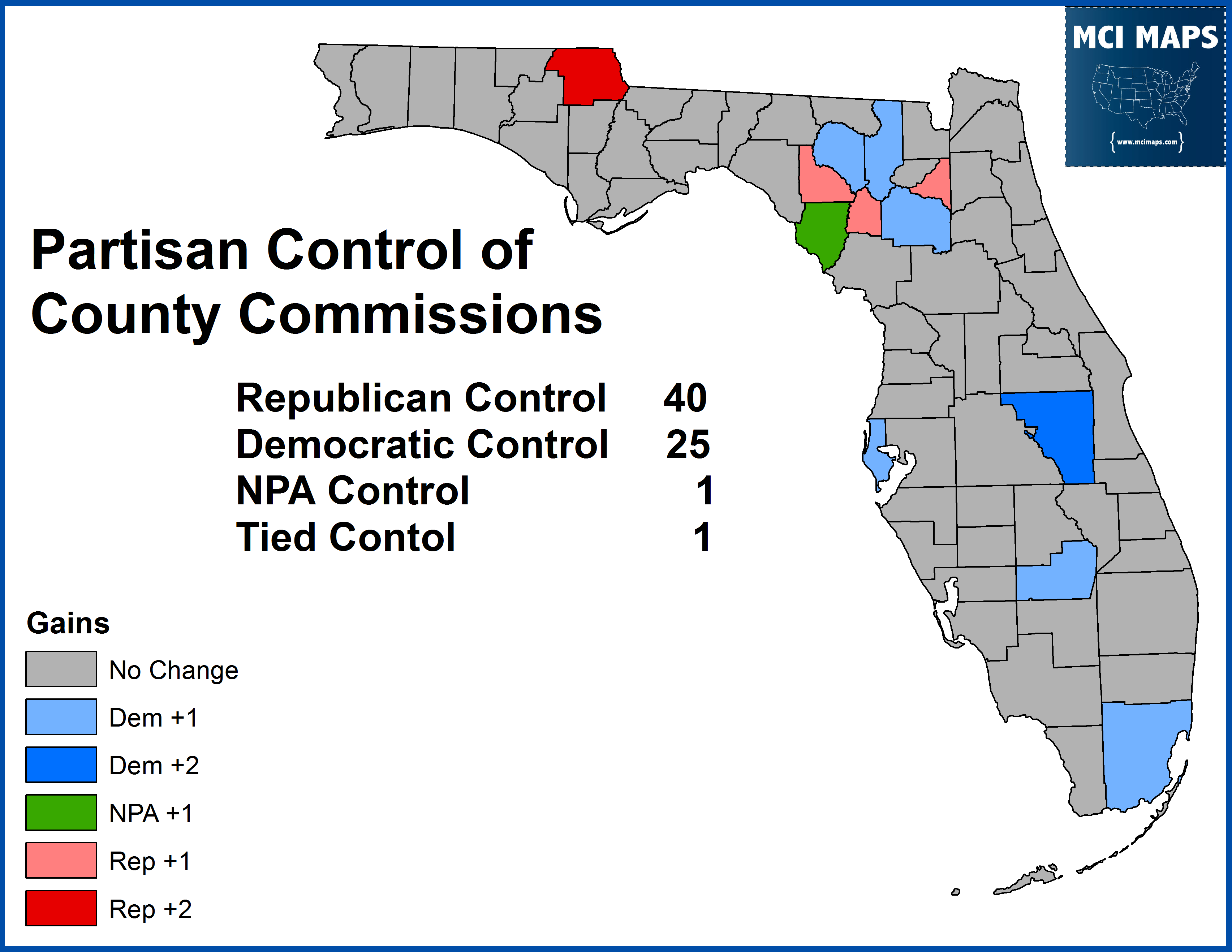 2014 County Commission Gain