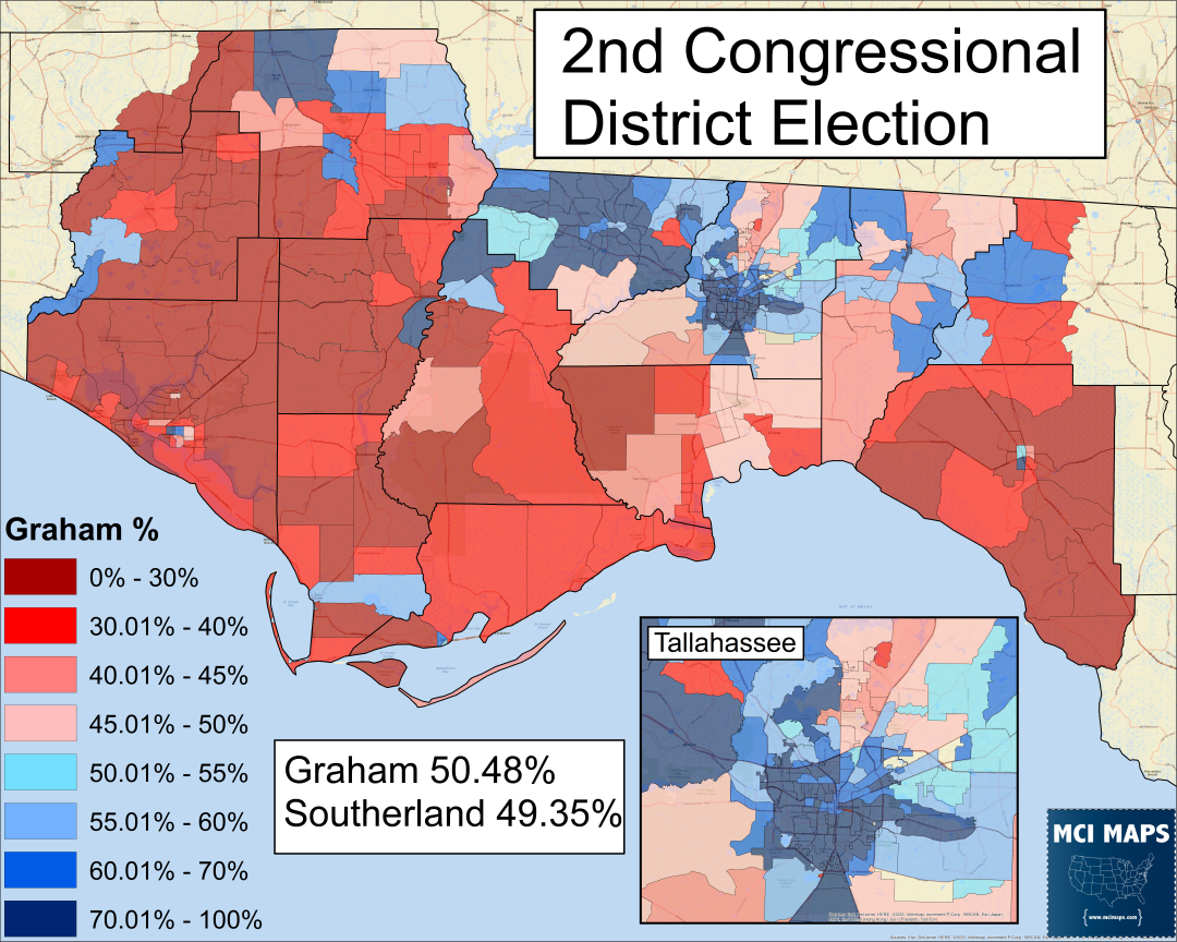 The North Florida Way: How Gwen Graham Won FL-02 – MCI Maps