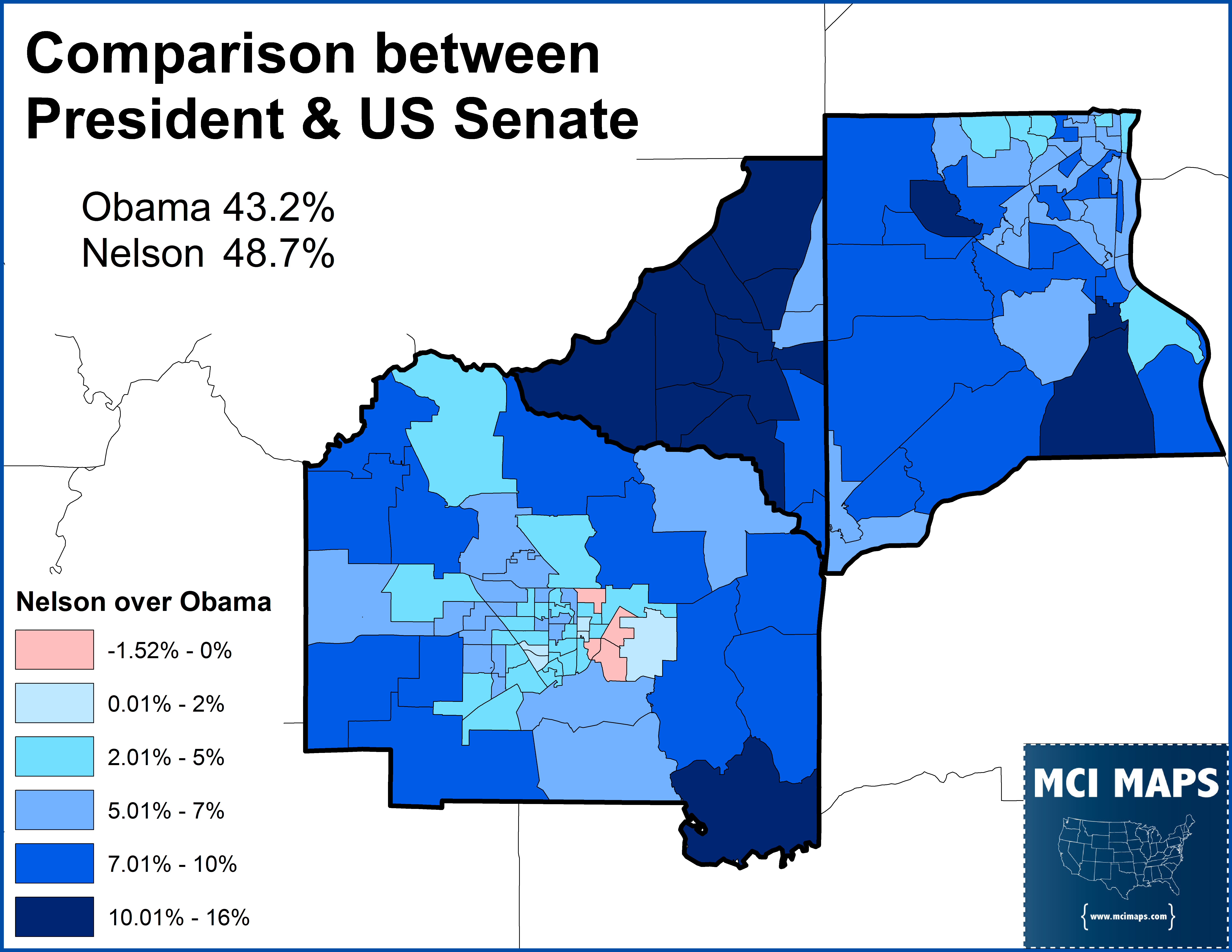 Florida Senate District A Case In Compact Gerrymandering MCI Maps - Us senate map 2015
