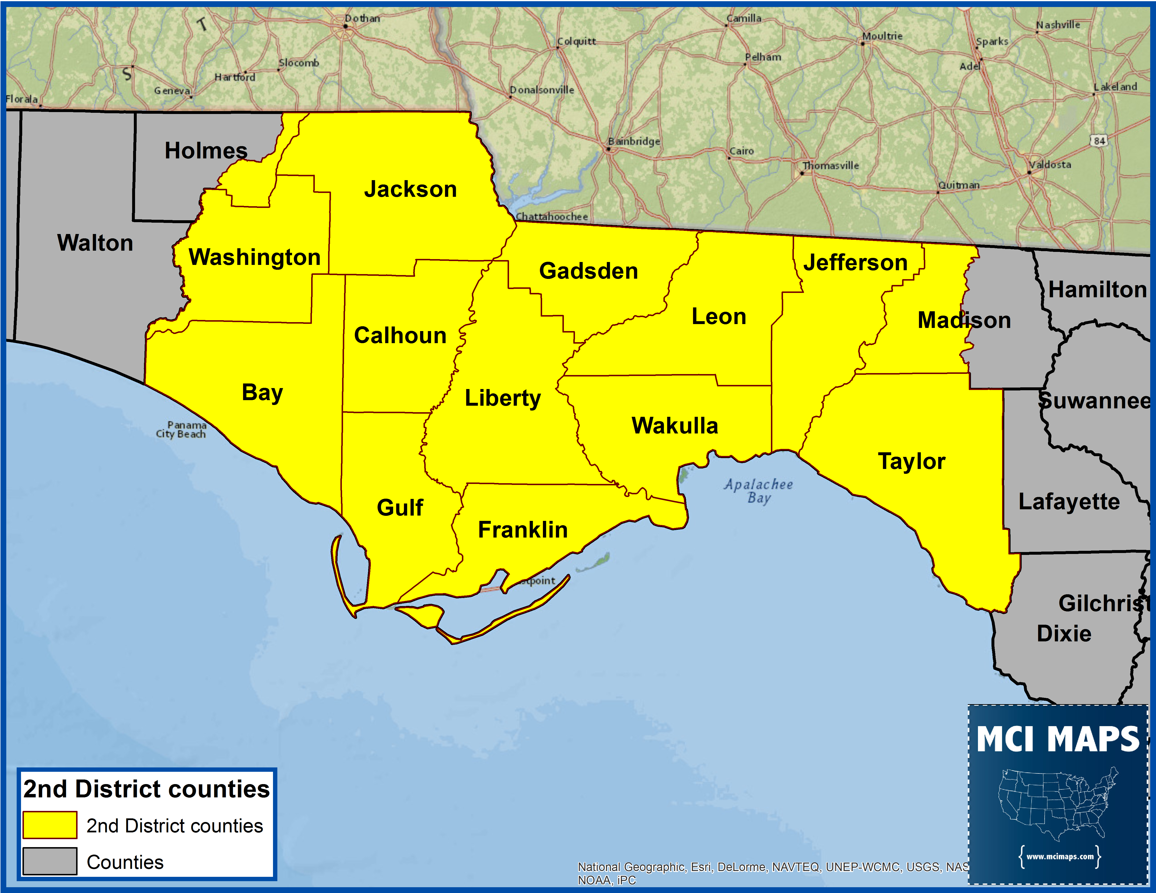 The North Florida Way How Gwen Graham Won FL  MCI Maps - Florida county map with population