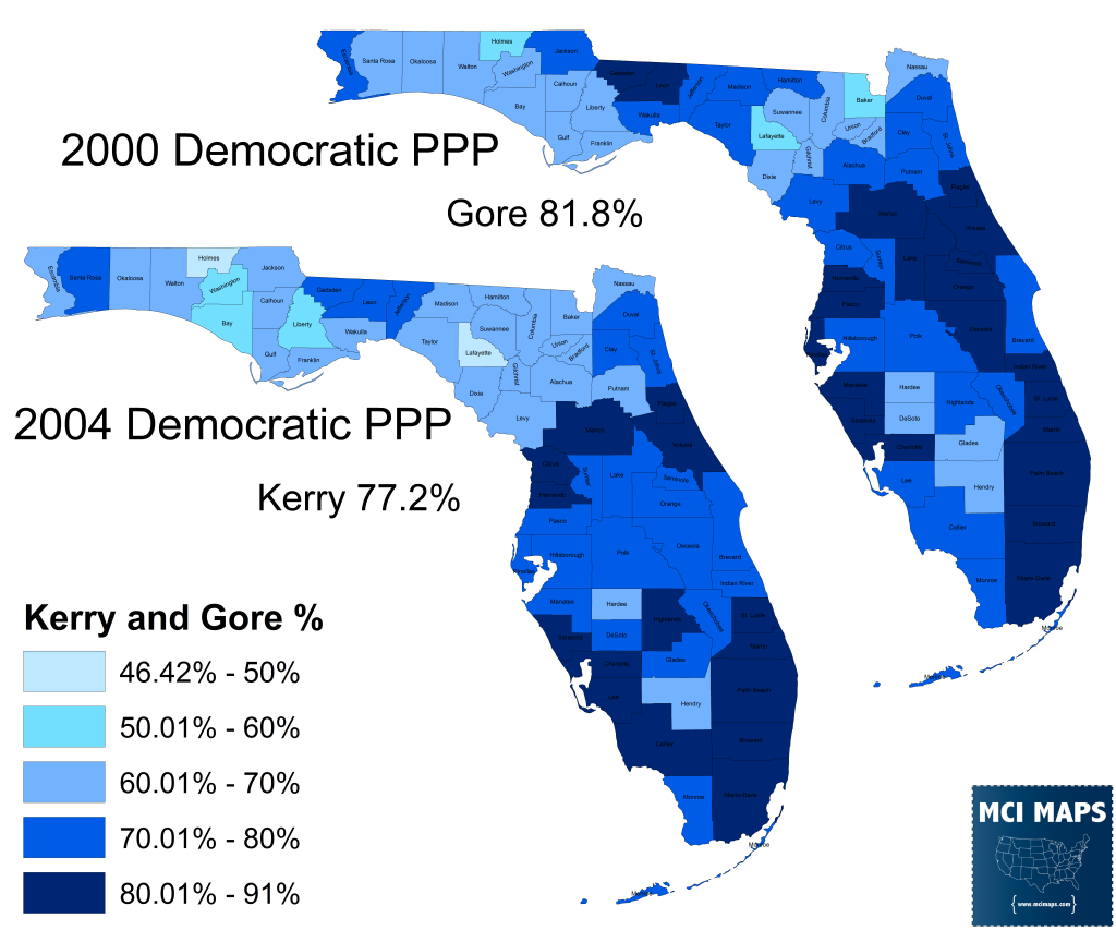 2000 and 2004 Dem PPP