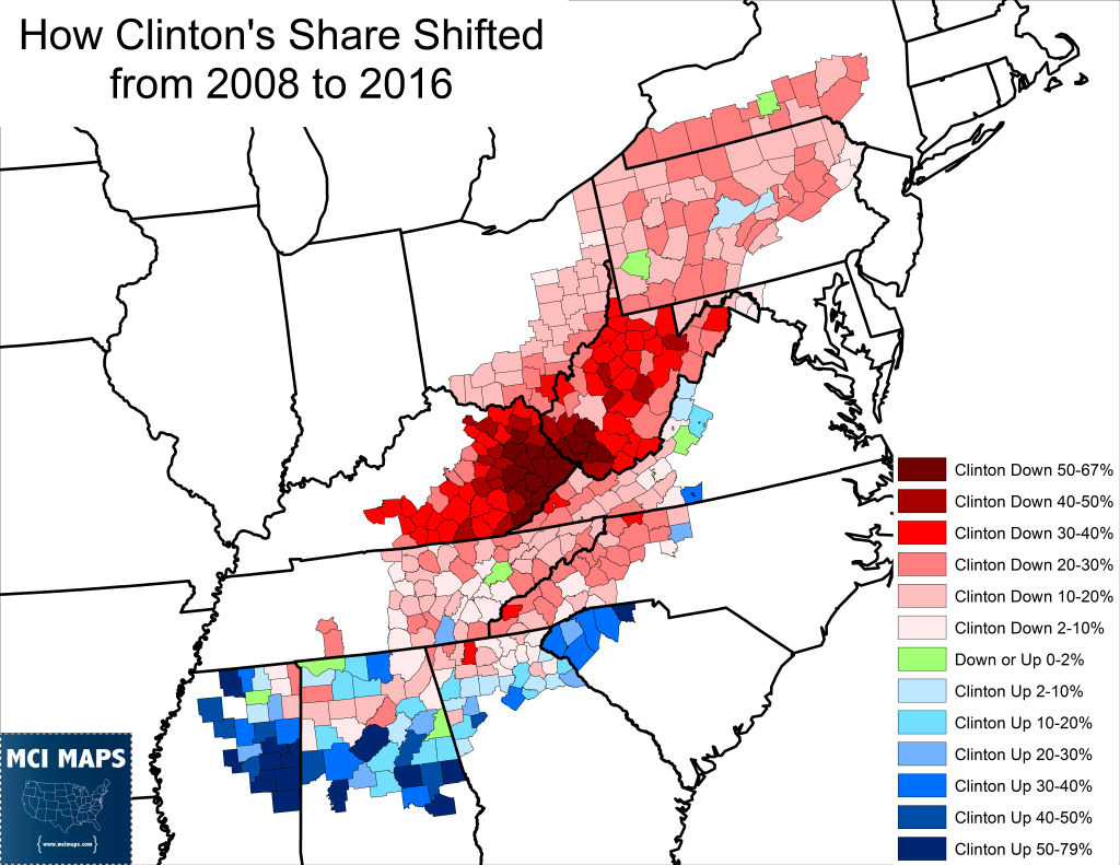 Appalachia Clinton Shift