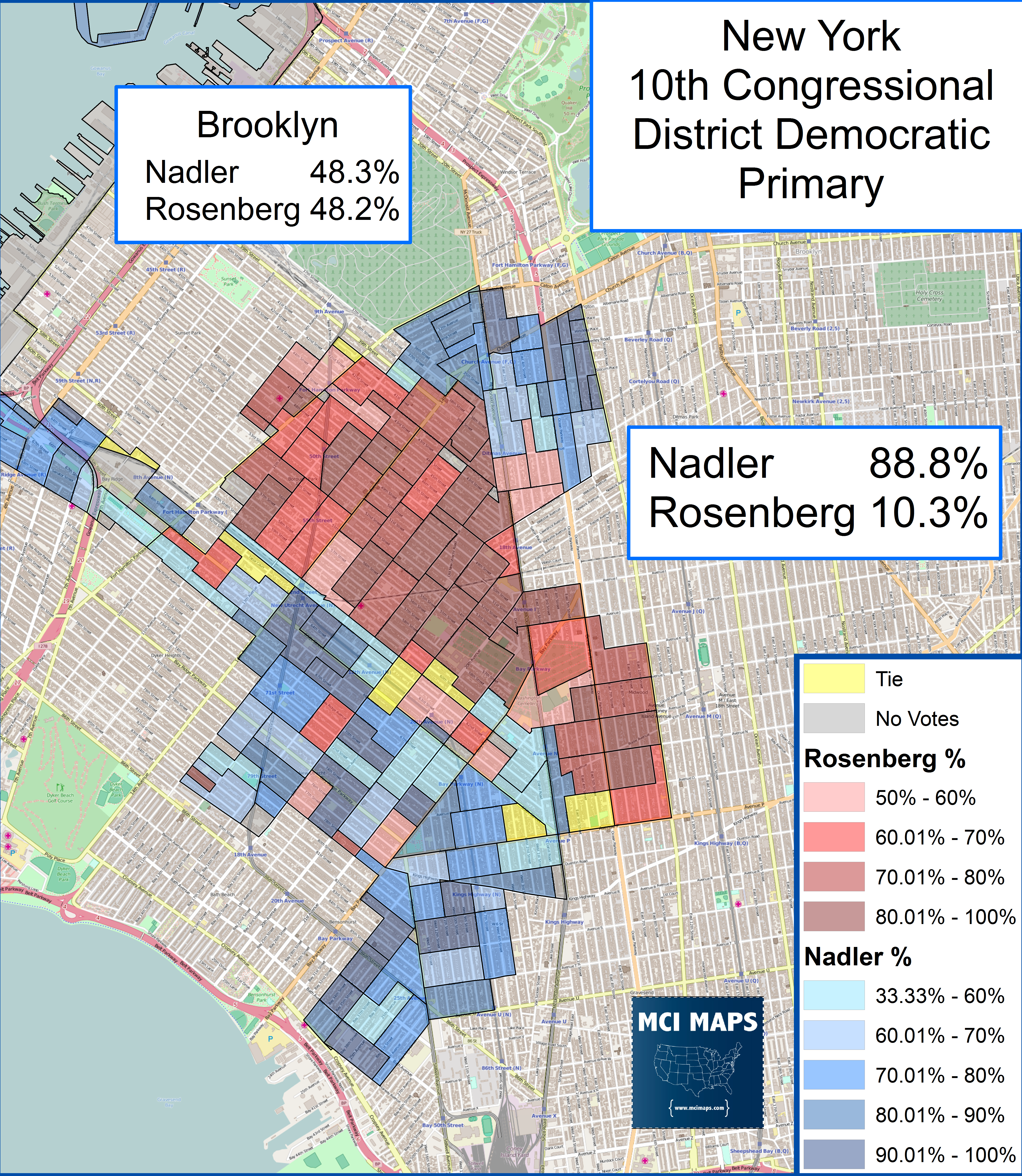 Map Of New York Districts.The New York 10th Democratic Primary Borough Park Vs Manhattan