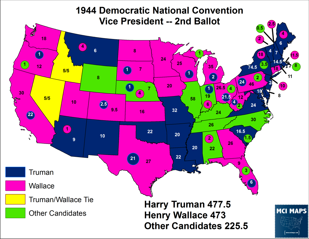 1944 VP 2nd Ballot