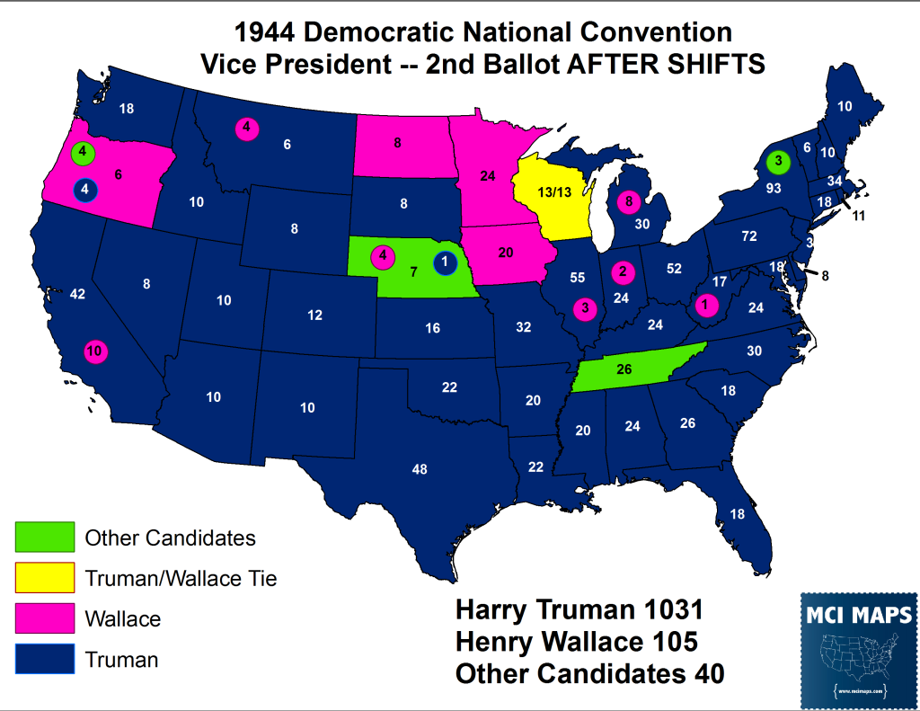 1944 VP 2nd Ballot After Shifts