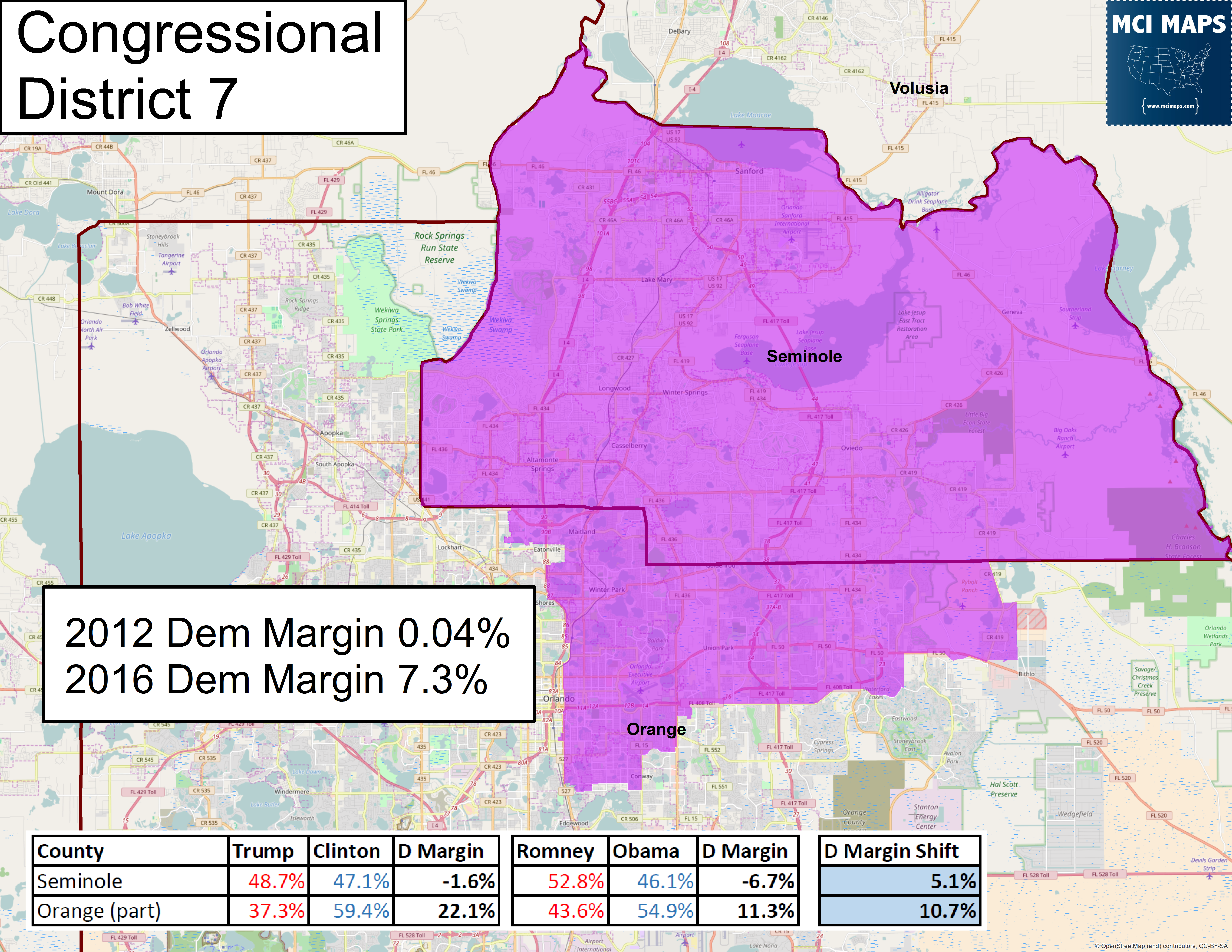 How Floridas Congressional Districts Voted And The Impact Of - Us 2016 Election Map District