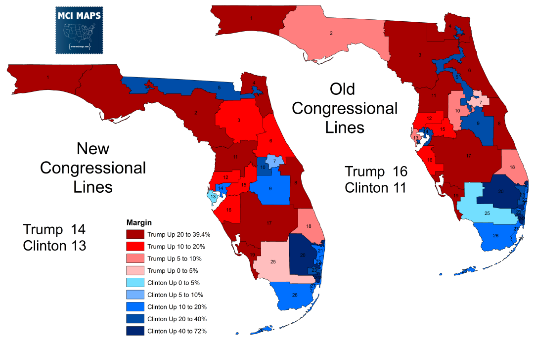 how floridas congressional districts voted and the impact of redistricting mci maps