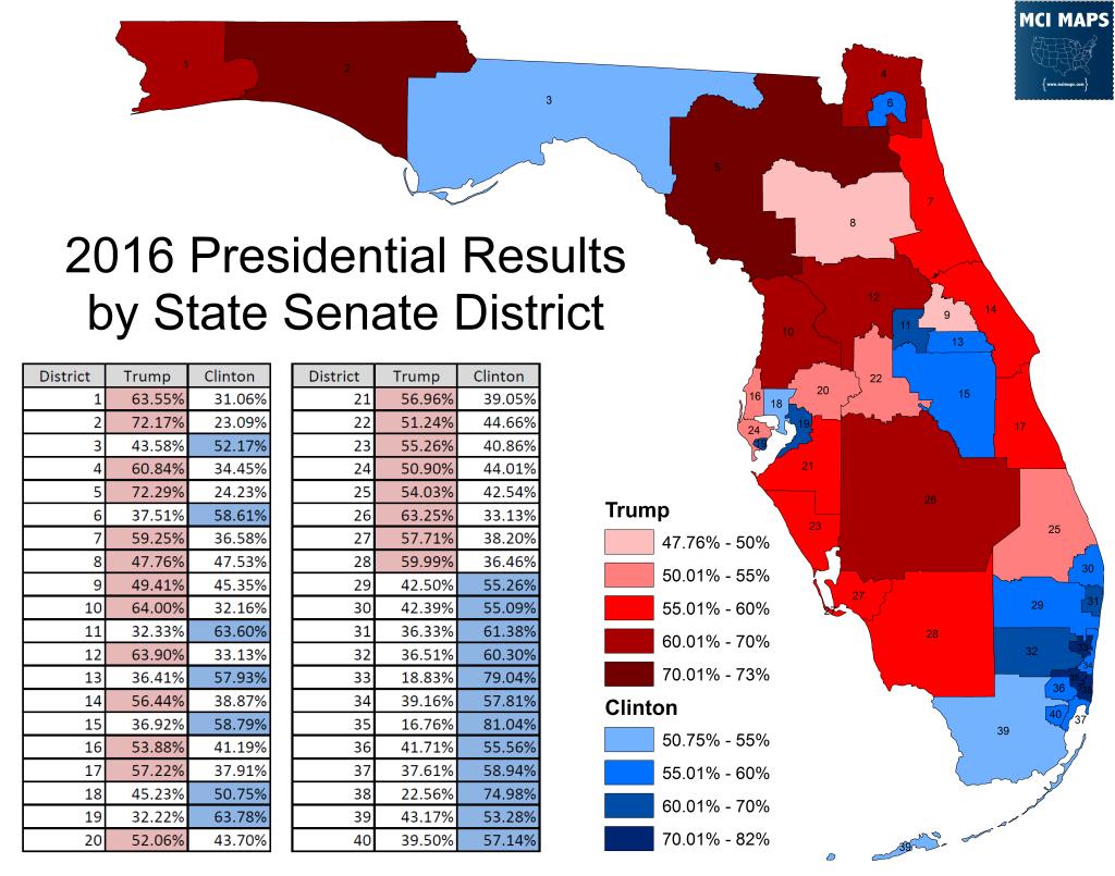 President by Senate District