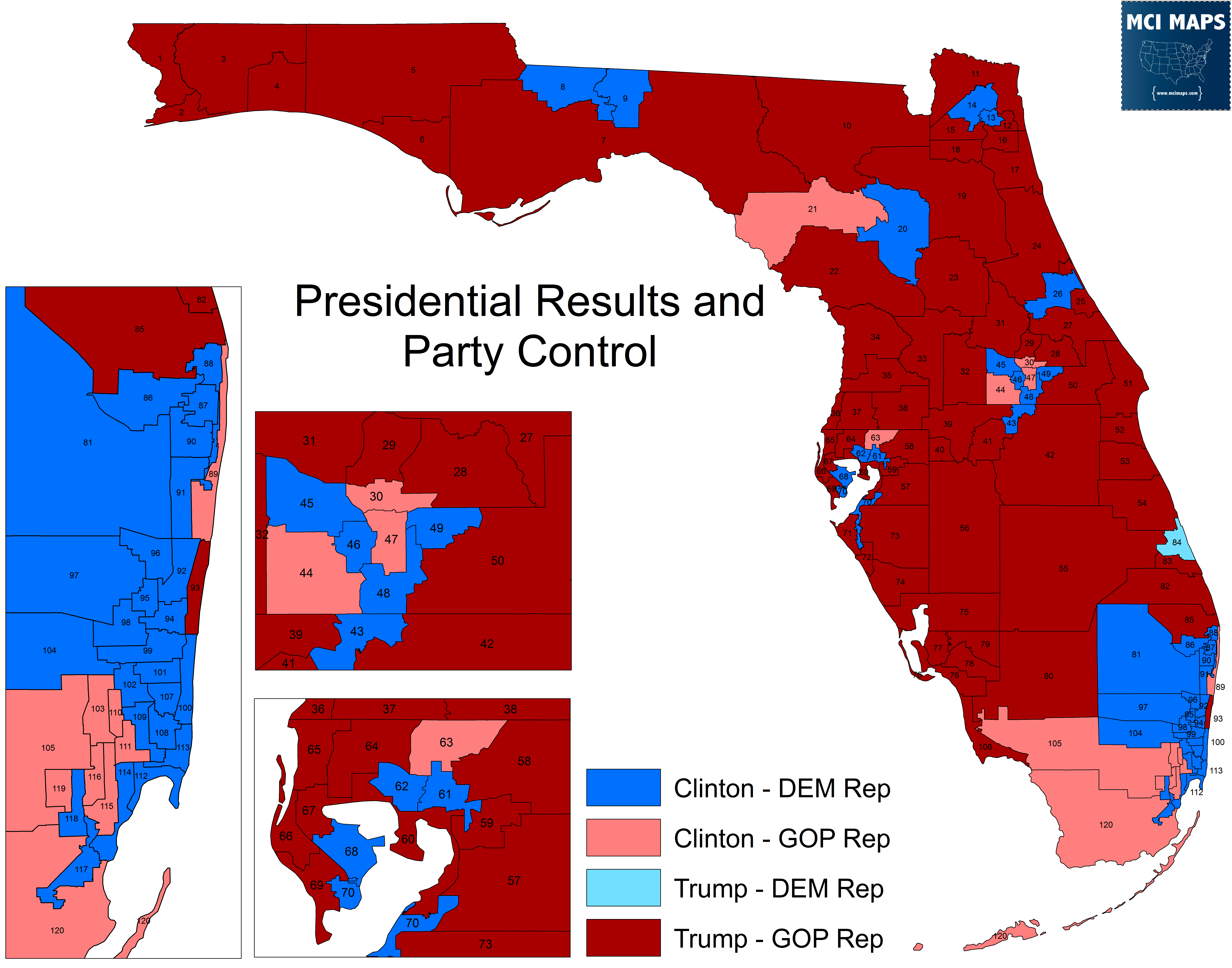 Presidential Results By Florida State House District Mci Maps