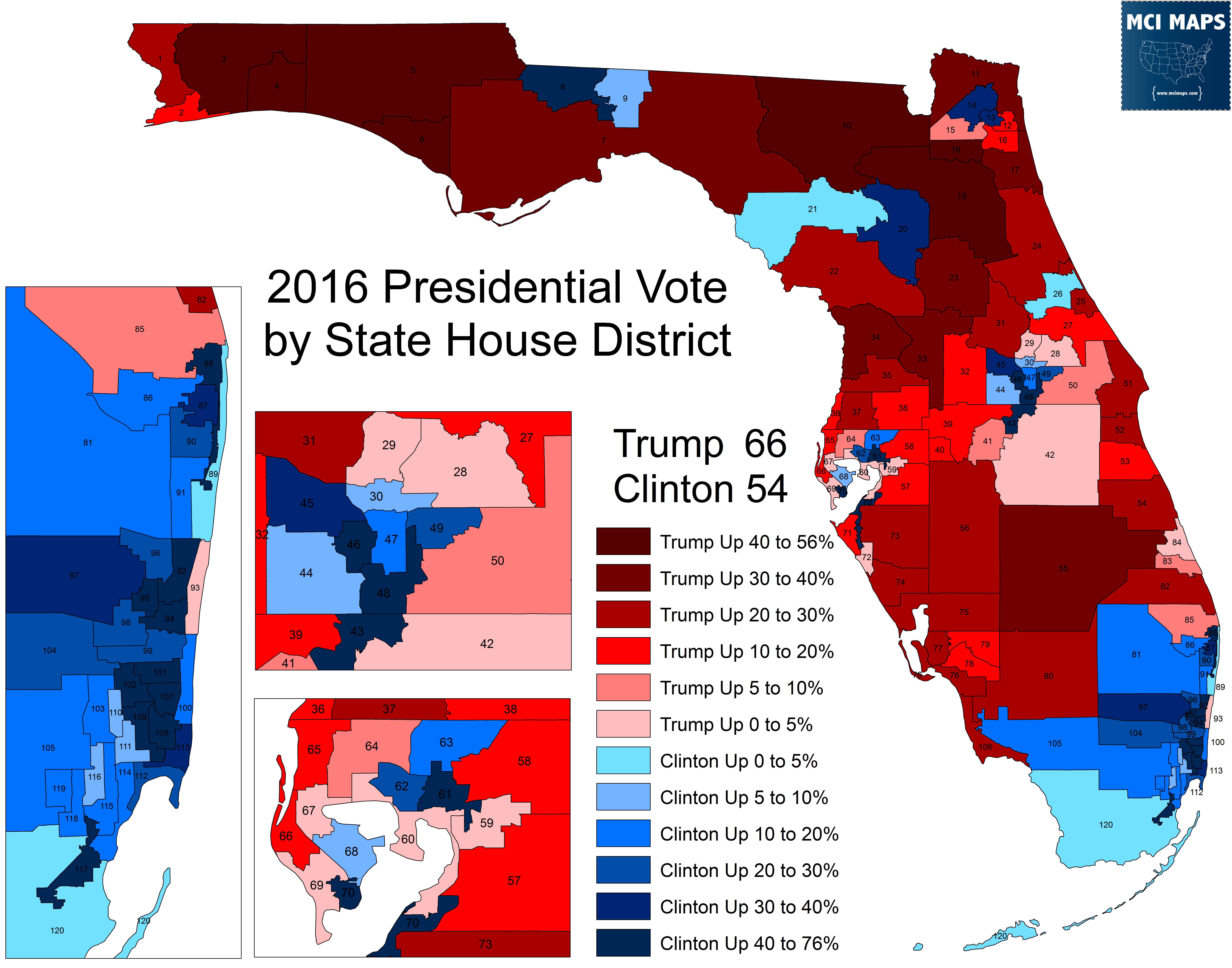 Trump Support By State Map.Florida S 2018 State House Ratings Mci Maps