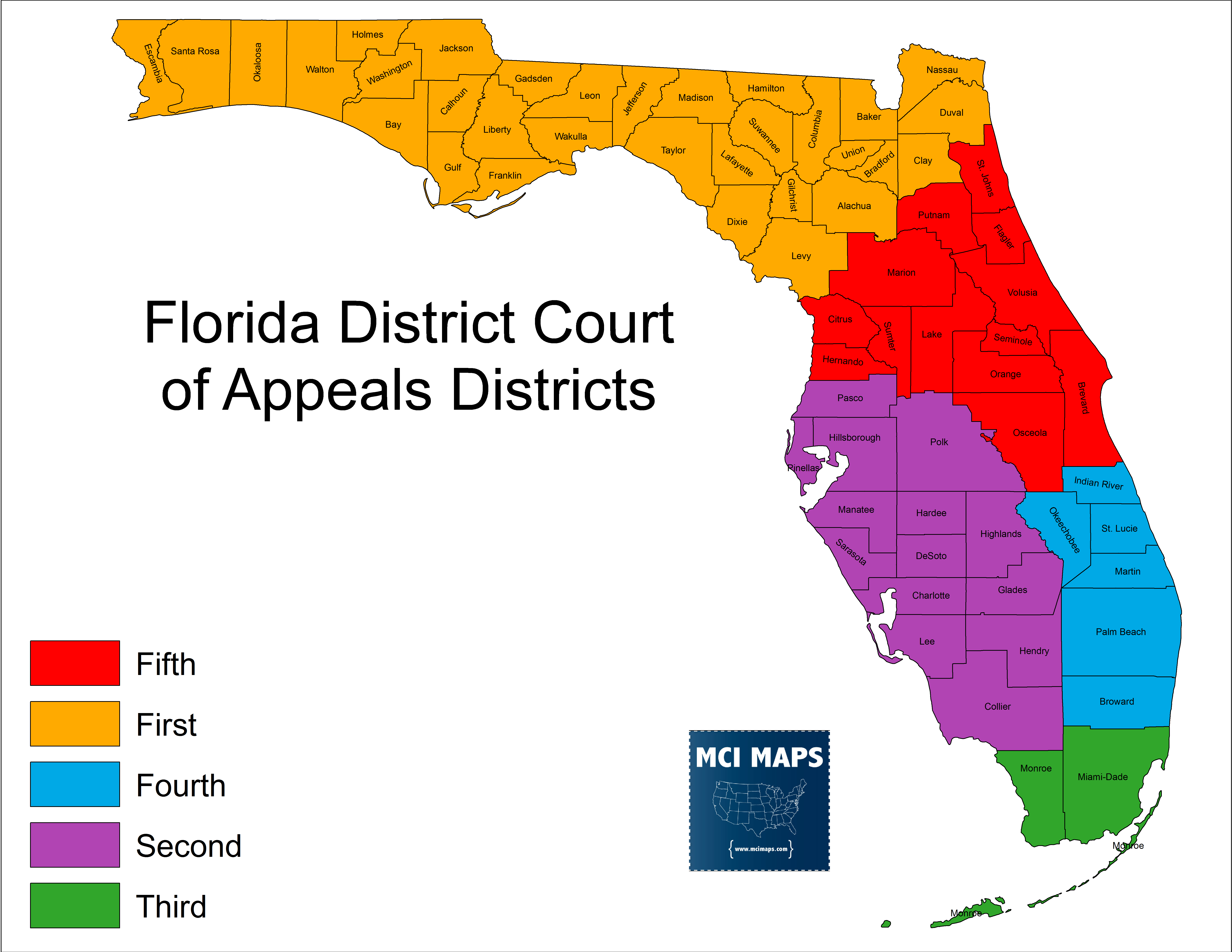 Appeals Districts