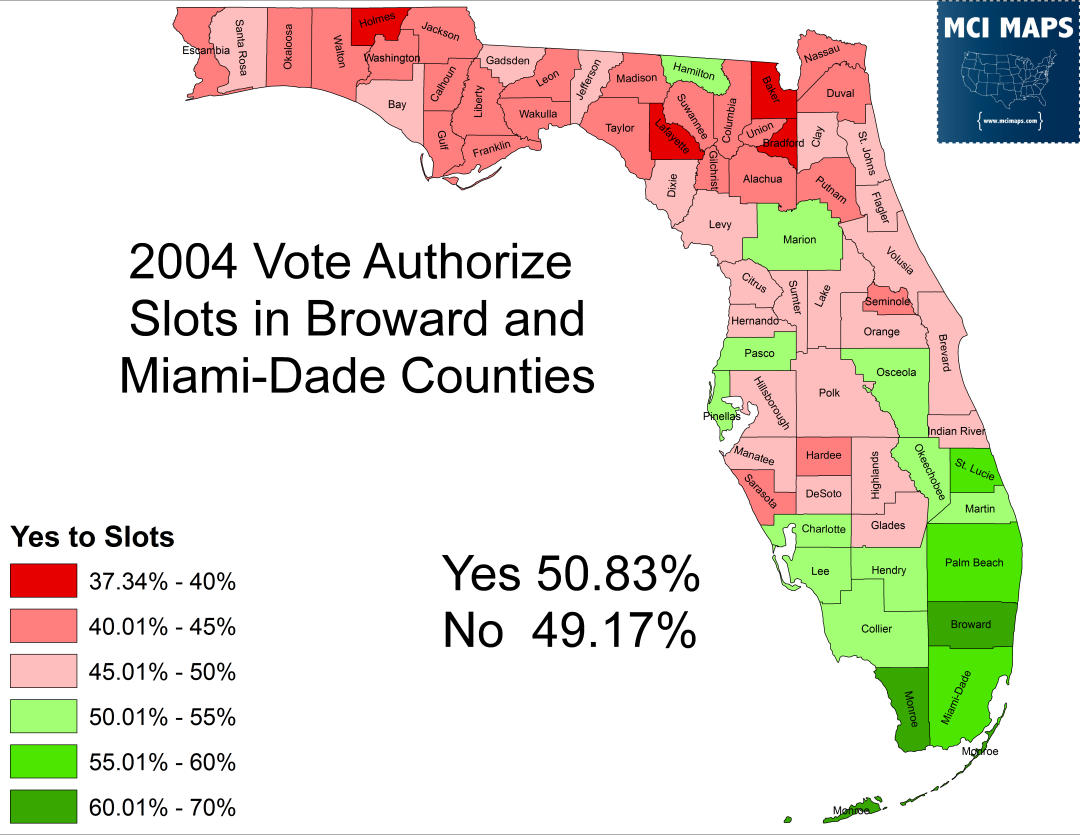 The Politics Of Slot Machines In Florida  MCI Maps - Florida county map with population