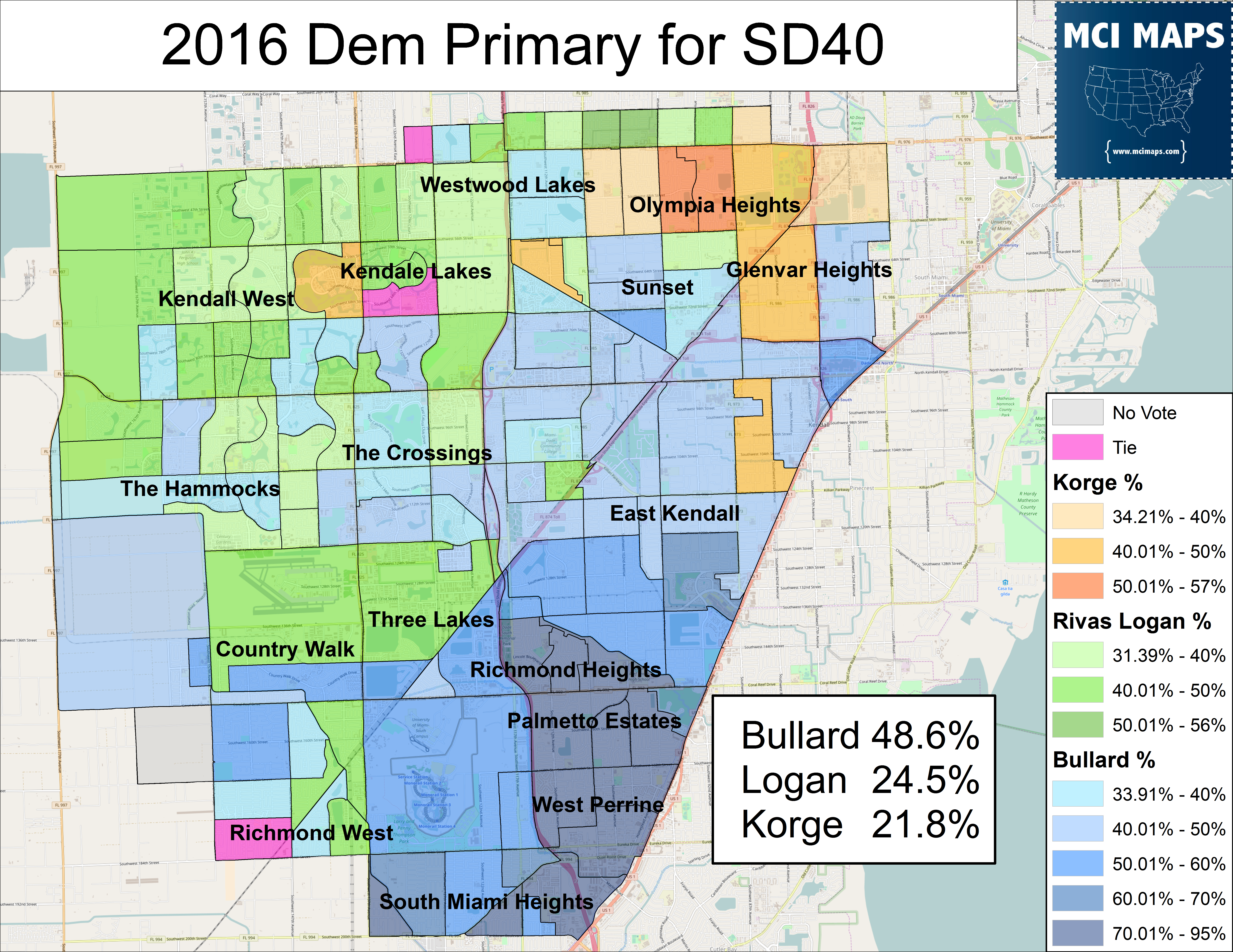2016 August DEM Dem Primary Result