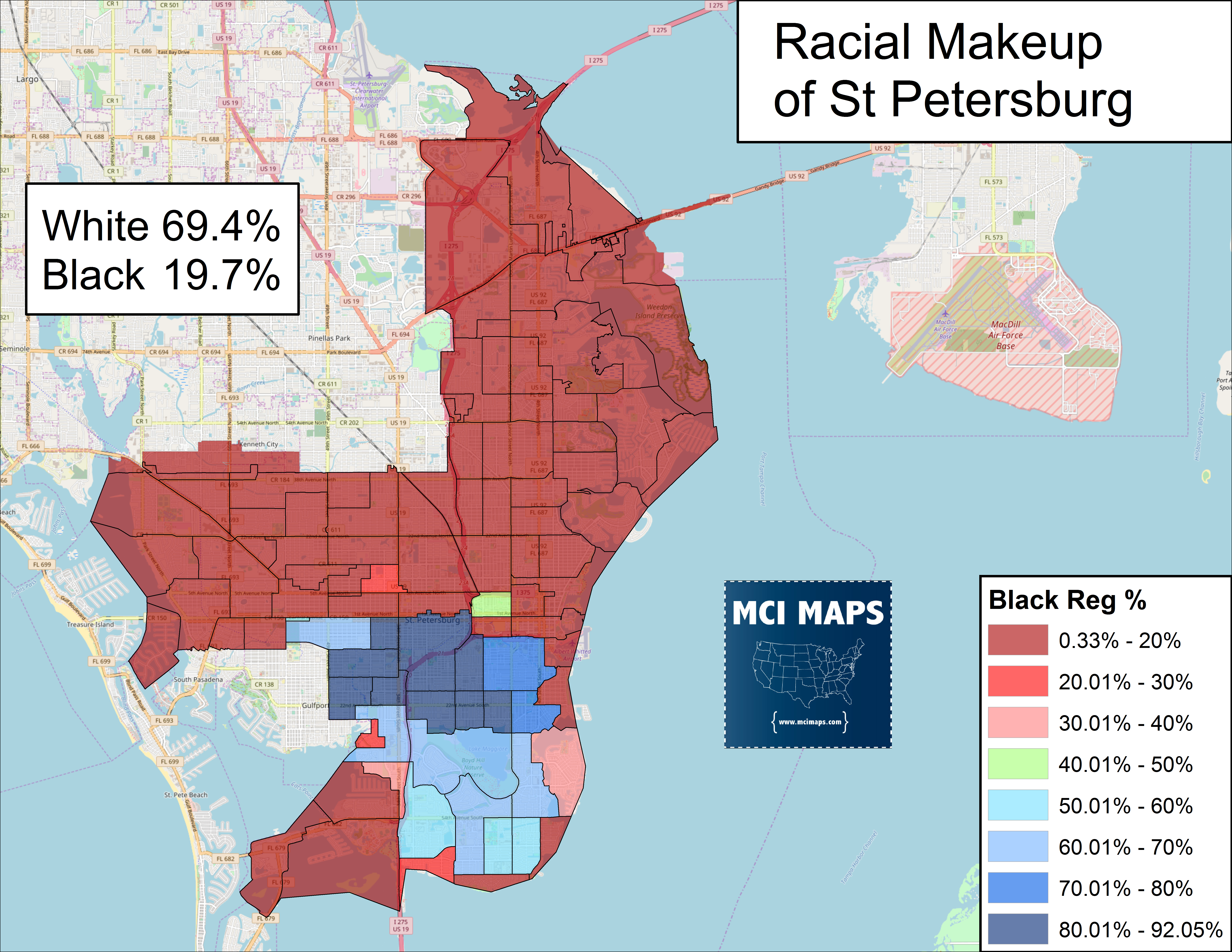 Map St Petersburg Florida.How Rick Kriseman Avoided Defeat In St Pete Mci Maps