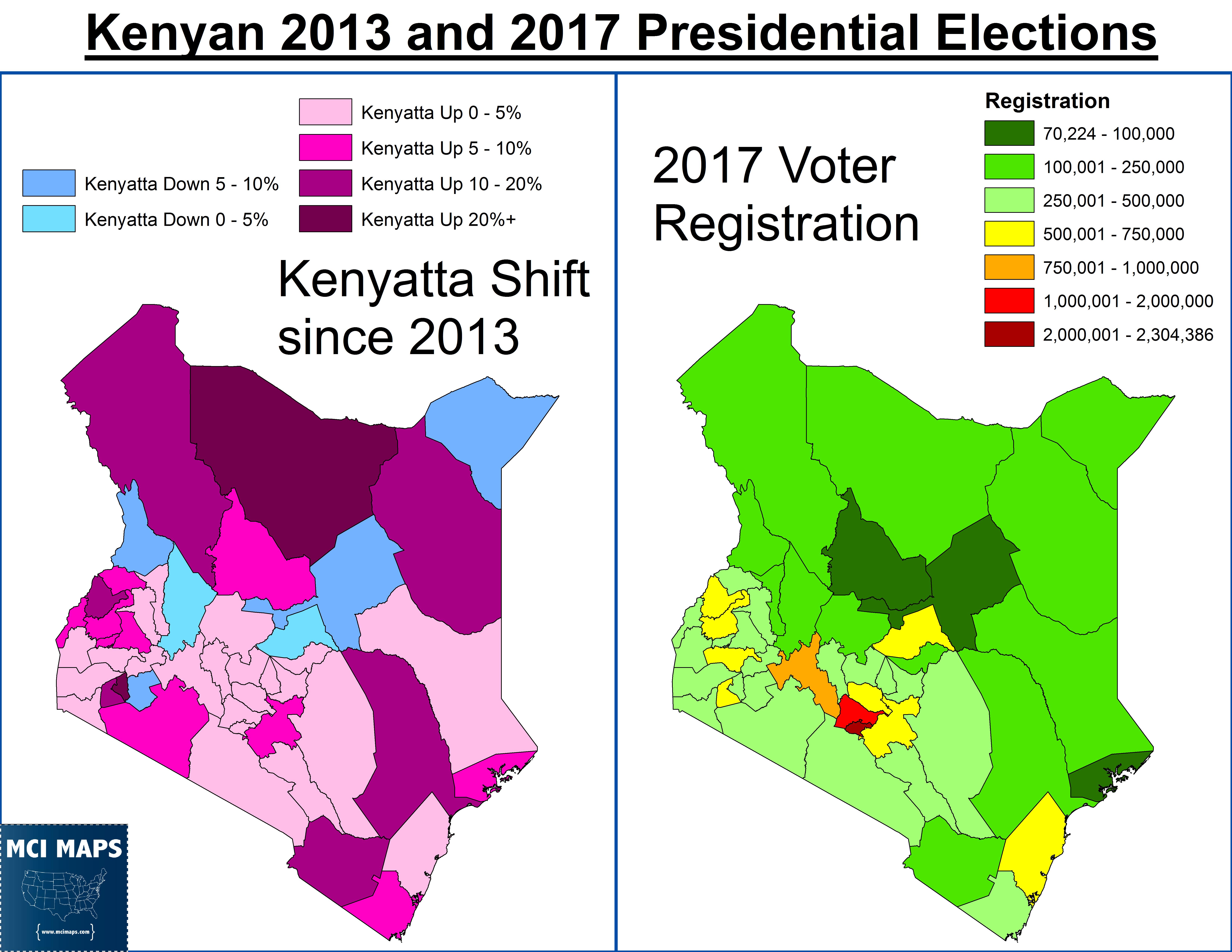 Kenya 2013 and 2017 2