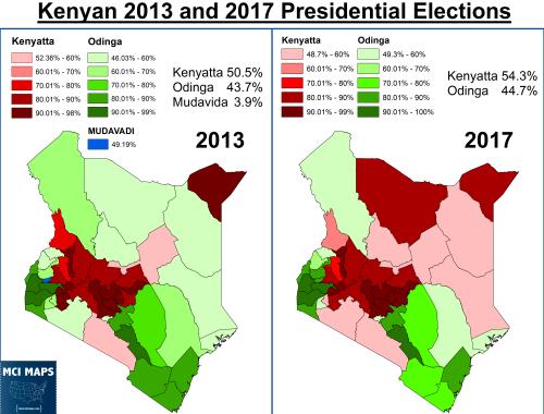 Kenya 2013 and 2017