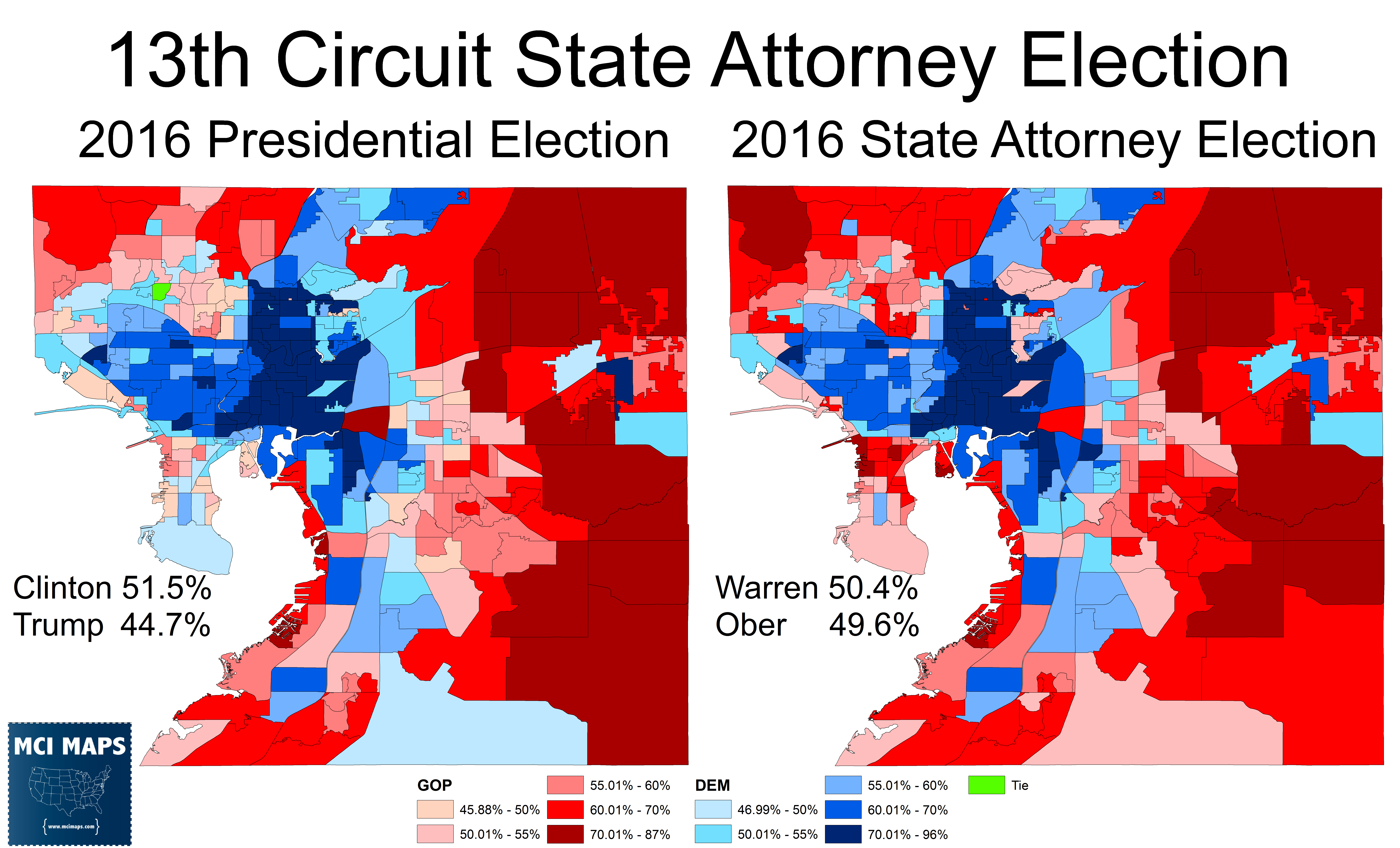 clinton also over performed warren in whiter suburban ares and precincts with a larger hispanic population meanwhile warren outperformed clinton in the