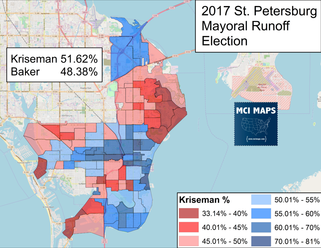 The Great Comeback in St Pete Kriseman reelected MCI Maps