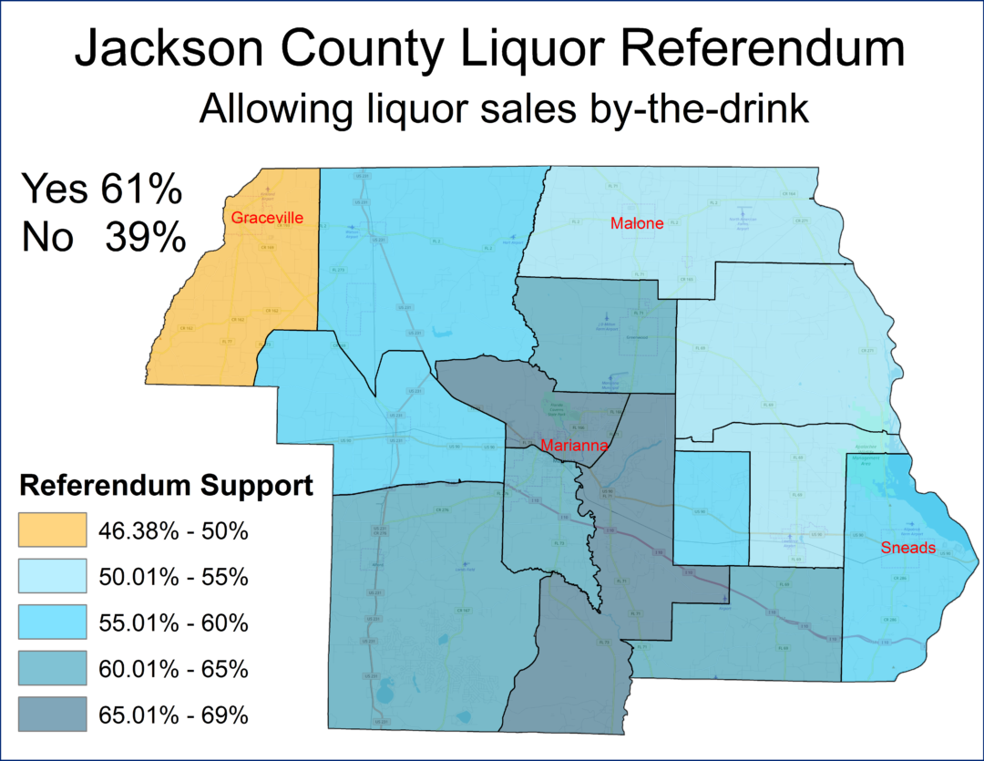 Jackson County Florida Votes To Become A 100 Wet County Mci Maps