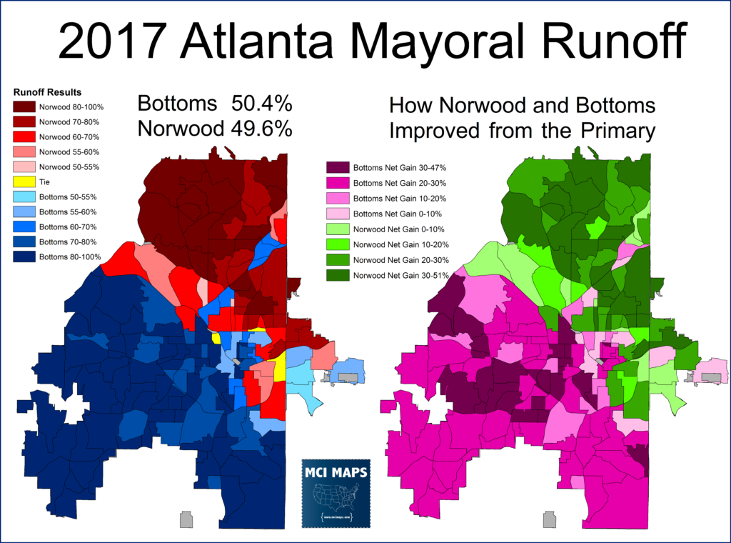 Atlanta Mayoral Race Results >> A Tale of Two Cities: The Political/Racial Divide in Atlanta's Mayoral Runoff – MCI Maps