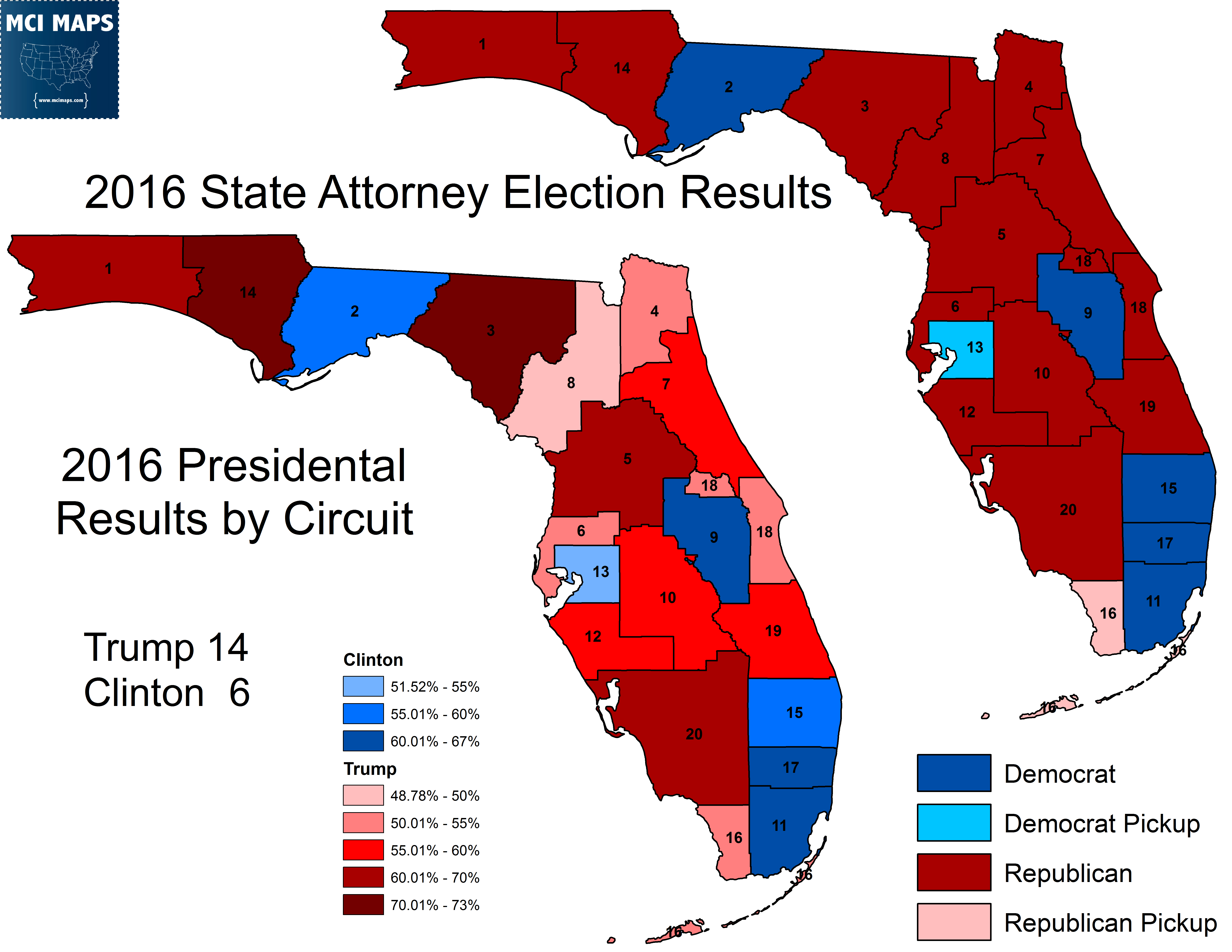 democrats are at a structural disadvantage here no county can be split by a circuit so places like broward or dade can only have 1 circuit each