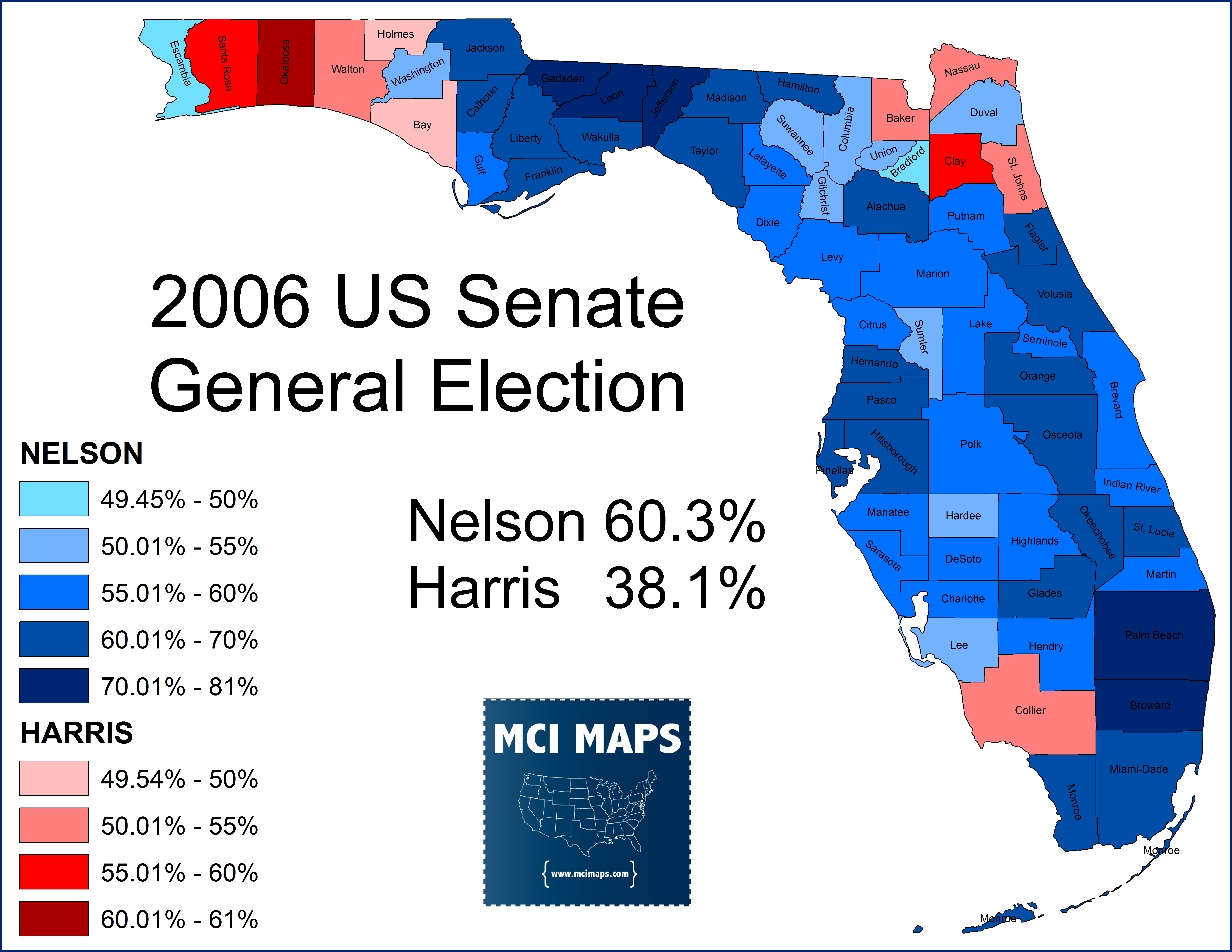 Map Of Us Senators.Clash Of The Titans The 2018 Race For Us Senate In Florida Mci Maps